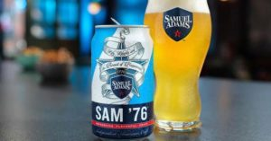 sam adams cold snap calories
