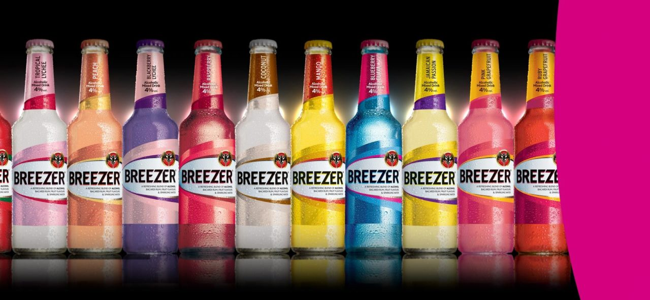 alcohol content in breezer