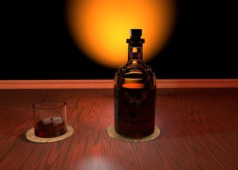 how many calories in a shot of bourbon